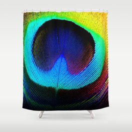 Colorfull Feather Peacock Shower Curtain