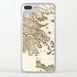 1752 Map of Greece Clear iPhone Case