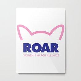 Pink Pussy ROAR - Women's March Alliance Metal Print