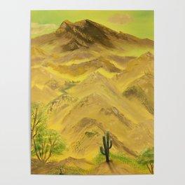 Wonderful desert mountains Poster