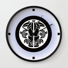 Bamboo and sparrow Wall Clock