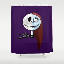 Nightmare Before Christmas Jack and Sally Shower Curtain