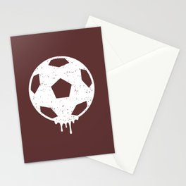 Soccer Ball Burgundy Stationery Cards