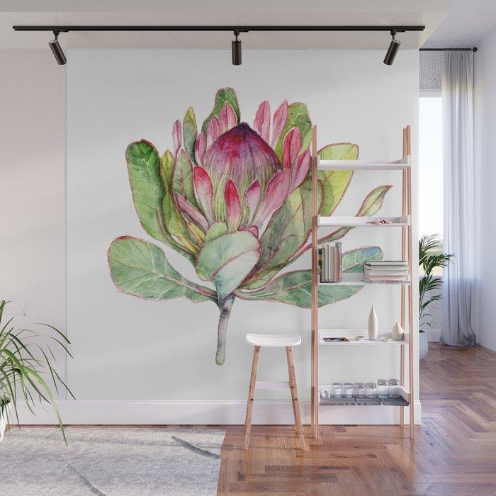 Protea Flower Wall Mural by evgeniya Society6