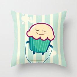 Baby Cupcake - Skipping Throw Pillow