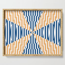 Cross the lines - blue and yellow Serving Tray