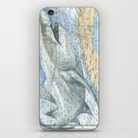 cuba iPhone & iPod Skins featuring Cuba Sharks by Carly Mejeur