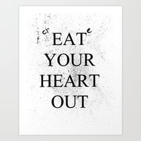 Create Your Heart Out Art Print