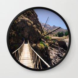 Hot Springs & Bridge Wall Clock
