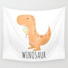 Winosaur | White Wine Wall Tapestry