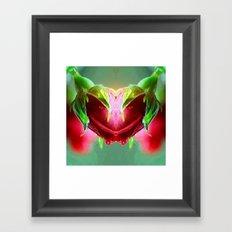 Heart of Roses Framed Art Print