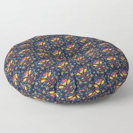 Beautiful Otomi Flower Pattern Gift Floor Pillow