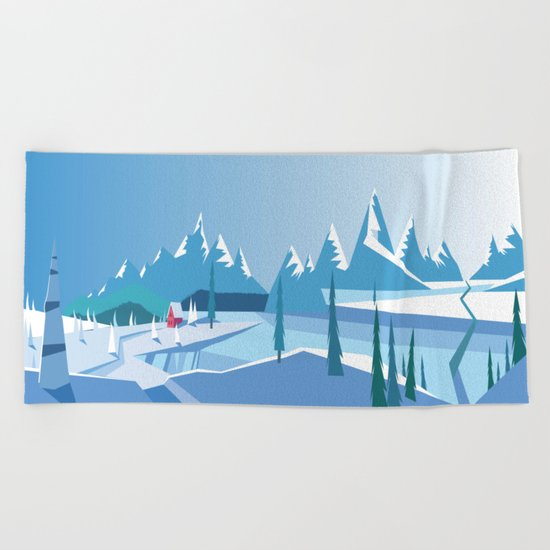 In The Ice Cold North No. 2 Beach Towel
