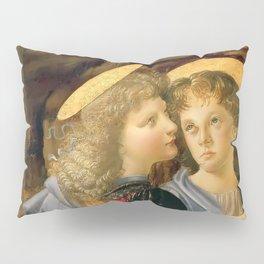 """Andrea del Verrocchio and Leonardo da Vinci """"Baptism of Christ"""" - angels Pillow Sham"""
