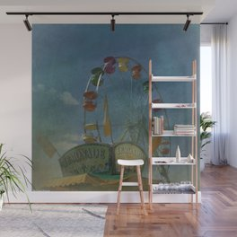Textured Ferris Wheel Wall Mural