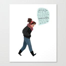 Pep Talk Canvas Print