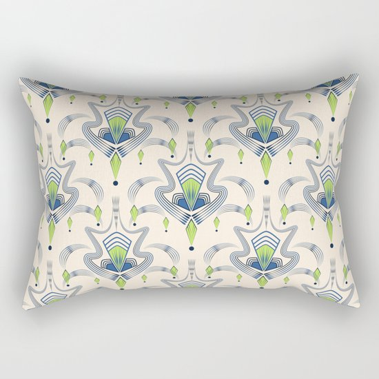 "Art Deco 34. ""Julia,"" Rectangular Pillow"