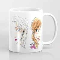 sisters Mugs featuring SISTERS. by Maryne.