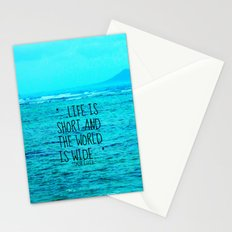 LIFE IS SHORT II  Stationery Cards