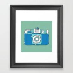 Holga Camera in Blue Framed Art Print