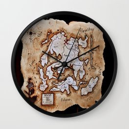 Map to the Afterlife Wall Clock