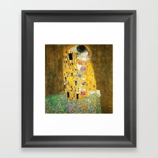 Gustav Klimt The Kiss Framed Art Print
