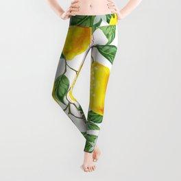 TROPICAL LEMON TREE Leggings
