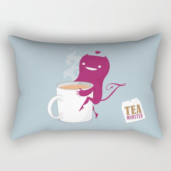 Tea Monster Rectangular Pillow