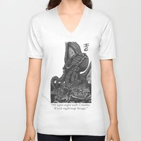 cthulhu V-neck T-shirts featuring Cthulhu by IG Design