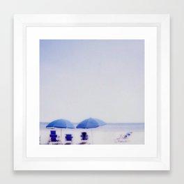 Blue Umbrellas Framed Art Print