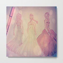 romantic girls Metal Print