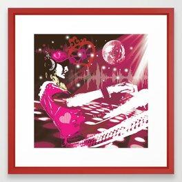 girl DJ Framed Art Print