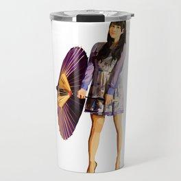 Purple Umbrella Travel Mug