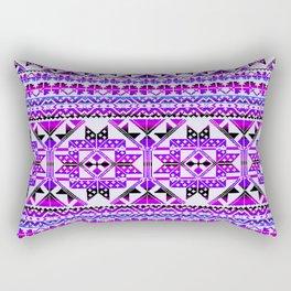 aztec geo in bright blue hues Rectangular Pillow