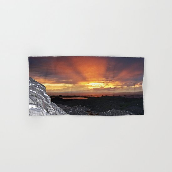 Sunset on the Rocks Hand & Bath Towel