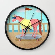 Summer Stroll Unicorn Wall Clock