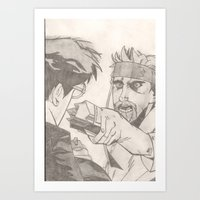 shaun of the dead Art Prints featuring Shaun of the dead. by Steven Goddard