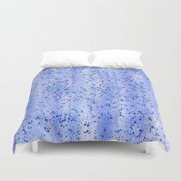 Blue Spray and Flecks Duvet Cover