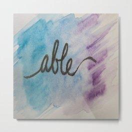 able watercolor print Metal Print