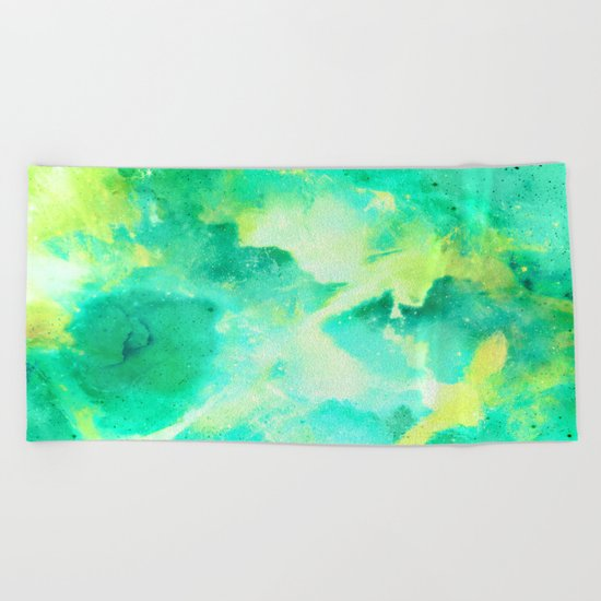 Gold & Jade for the Emperor Beach Towel