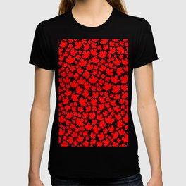 Canadian fall / Canadian flag maple leaf pattern T-shirt