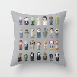 Horror Icons Throw Pillow