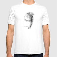 Squirrel MEDIUM Mens Fitted Tee White