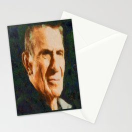 Portrait of Leonard Nimoy Stationery Cards