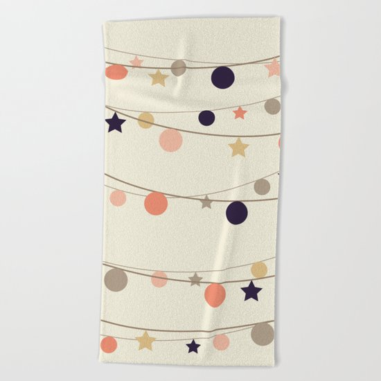 Christmas Garlands Beach Towel