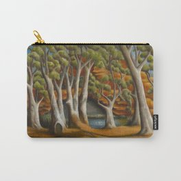 Ghost Gums of Gregory Gorge, original oil painting Carry-All Pouch