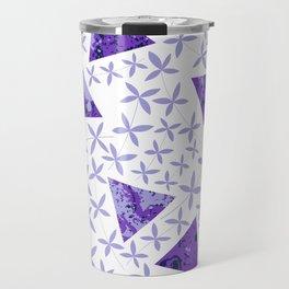 Shapes in Nature : Purple Travel Mug