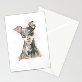 lovely pinscher pincher Stationery Cards
