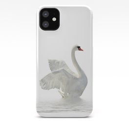WHITE ON WHITE-BEAUTIFUL SWAN iPhone Case