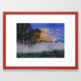 Fog at Sunrise Framed Art Print